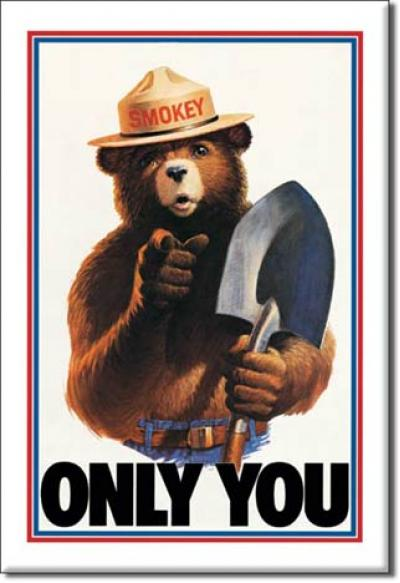 Magnet, Smokey Bear-Only You