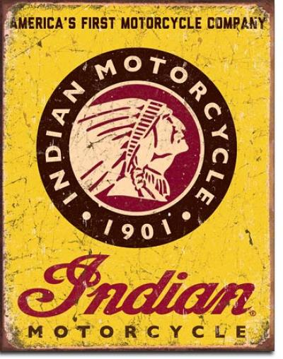 Tin Sign, Indian Motorcycles Since 1901