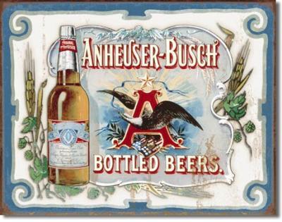 Tin Sign, Anheuser Busch - Bottled Beers