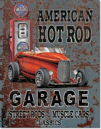 Tin Sign, Legends - American Hot Rod