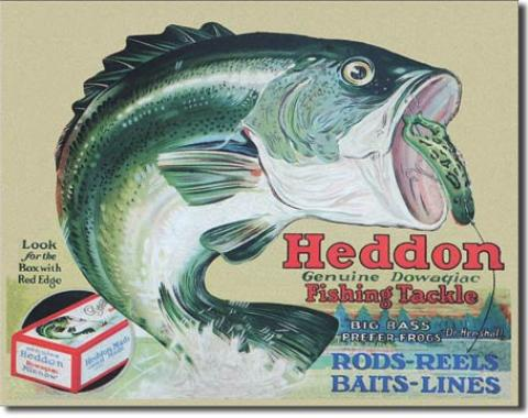 Tin Sign, Heddon - Frogs