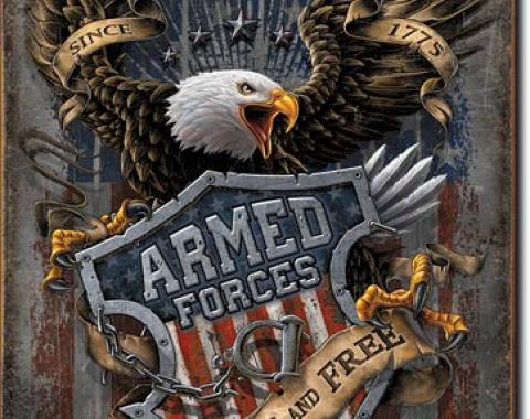 Tin Sign, Armed Forces - since 1775
