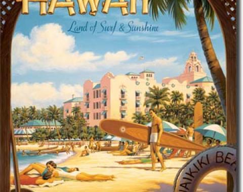 Tin Sign, Erickson - Hawaii Sun and Surf