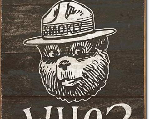 Tin Sign, Smokey Bear - If Not You