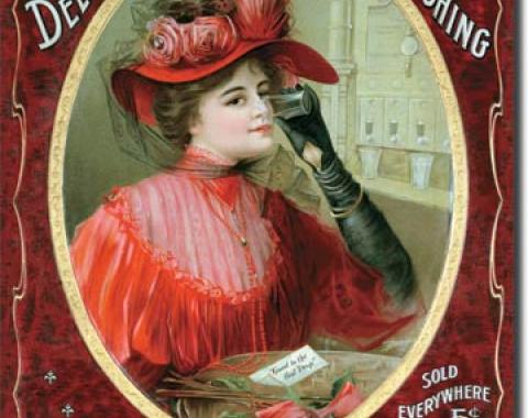 Tin Sign, COKE Victorian Red Dress