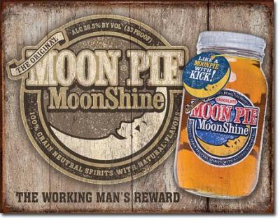 Tin Sign, Moon Pie Whiskey