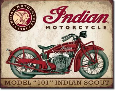 Tin Sign, Indian Scout
