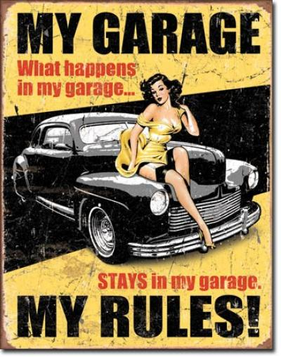 Tin Sign, Legends - My Garage