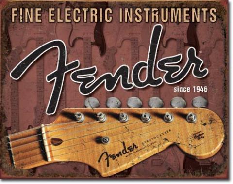 Tin Sign, Fender - Headstock