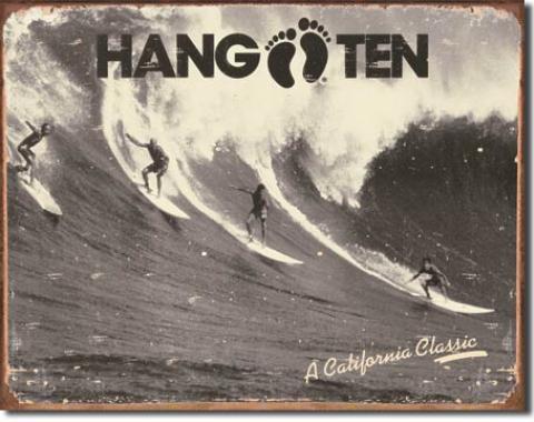 Tin Sign, Hang Ten - California Classic