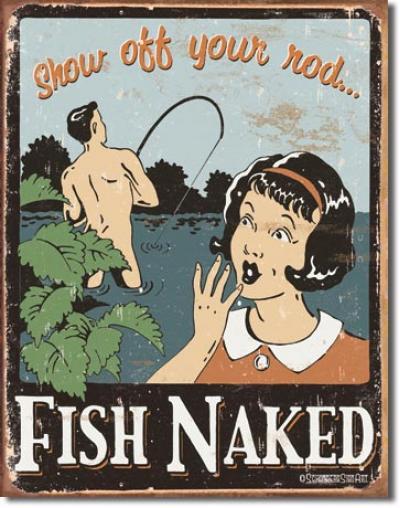 Tin Sign, Schonberg - Fish Naked