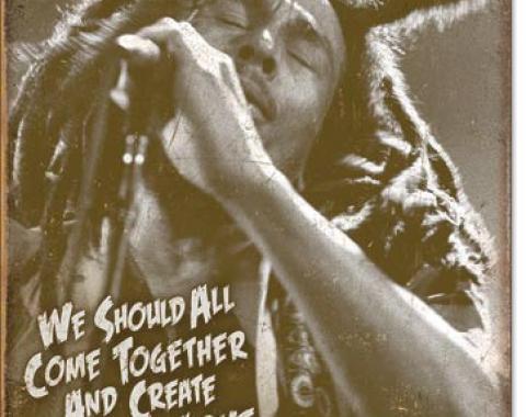 Tin Sign, Bob Marley - Music & Love