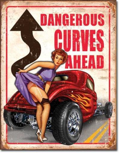 Tin Sign, Legends - Dangerous Curves