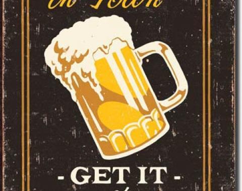 Tin Sign, Moore - Lucky's Bar