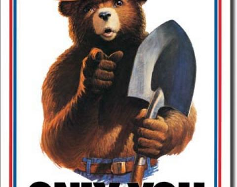 Tin Sign, Smokey Bear - Only You