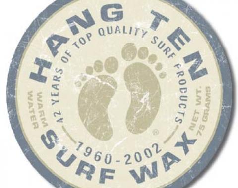 Tin Sign, Hang Ten Surf Wax