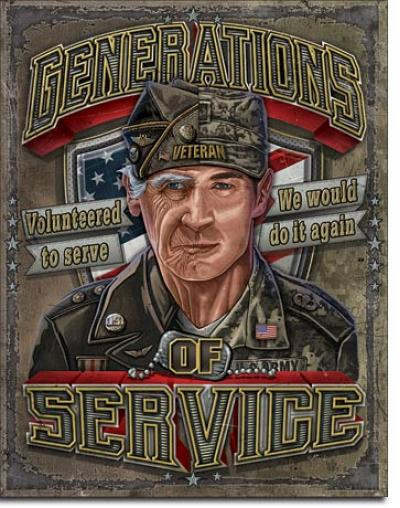 Tin Sign, Generations of Service