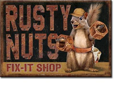 Magnet, Rusty Nuts Garage