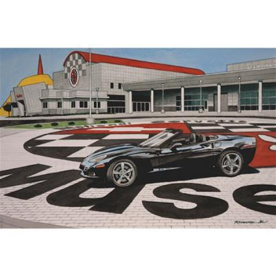 Corvette High Noon, Fine Art Print By Dana Forrester, 11x17