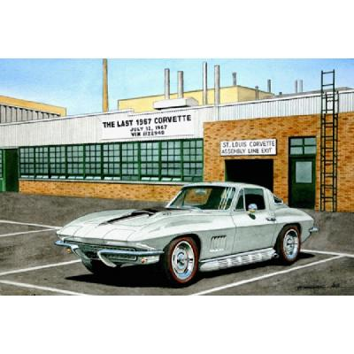 Corvette The Last Corvette, Fine Art Print By Dana Forrester, 11x17