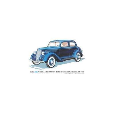 Print - 1936 Ford Tudor Touring Sedan (68-700) - 12 X 18 - Unframed