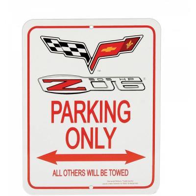 Corvette Parking Sign, C6 Logo With Z06 505hp