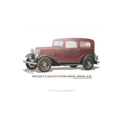Print - 1932 Ford Tudor Sedan (B55) - Unframed