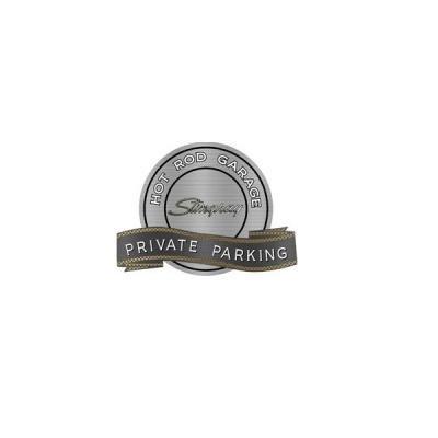 "Corvette C3 Stingray Emblem Hot Rod Garage Private Parking Metal Sign, 18"" X 14"""