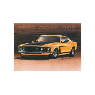 Limited Edition Print, Mustang, Boss 302, Orange, 1969