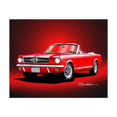 Mustang GT Convertible Fine Art Print By Danny Whitfield, 1965