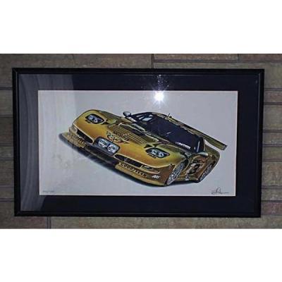 "Corvette C5R Racing Dale Earnhardt Print 11"" X 17"" By Hugo Prado"