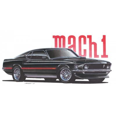 Limited Edition Print, Mustang, Mach 1, Black, 1969