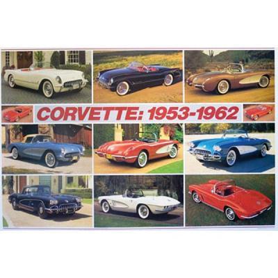Corvette 1953-1962 Poster