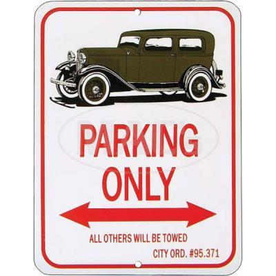 "Tudor Sedan ""Parking Only"" Sign"