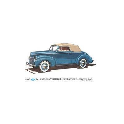 Print - 1940 Ford Convertible Club Coupe (66B) - 12 X 18 - Unframed