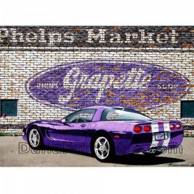 Corvette Purple Platinum, Fine Art Print By Dana Forrester, 11x17