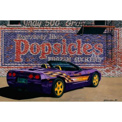 Corvette The Popsicle, Fine Art Print By Dana Forrester, 11x17