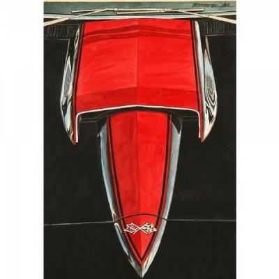 Corvette The Black Stinger, Fine Art Print By Dana Forrester, 11x17