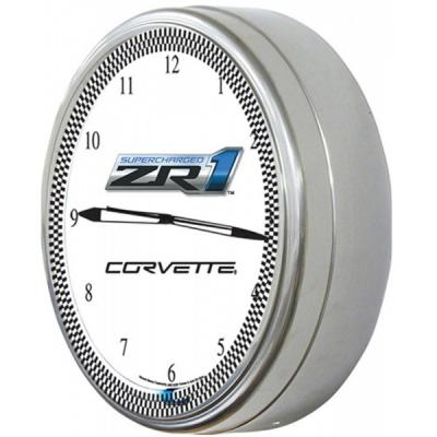 "Corvette Clock, Neon, 20"" ZR1"