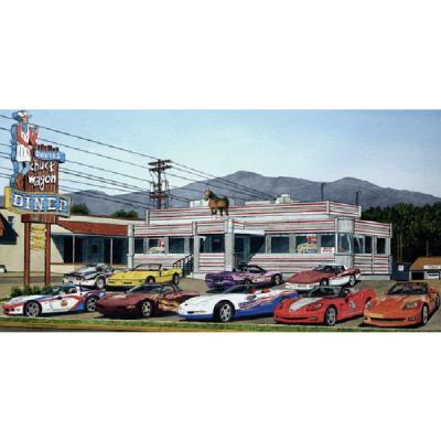 Corvette Steak And Eggs, Fine Art Print By Dana Forrester, 11x17