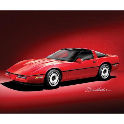 Corvette Fine Art Print By Danny Whitfield, 16x20, 1984-1990