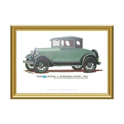 Model A Print - 1928 Ford Business Coupe (54A) - 12 X 18 - Framed