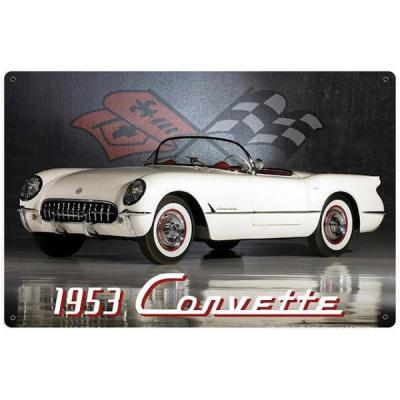 Corvette Vintage Metal Sign, 18x12, 1953
