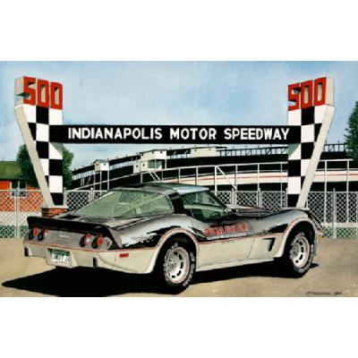 Corvette Indy In 1978, Fine Art Print By Dana Forrester, 11x17