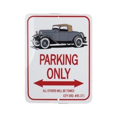 """Cabriolet """"Parking Only"""" Sign"""