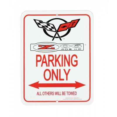 Corvette Parking Sign, C5 Logo With Z06 405hp
