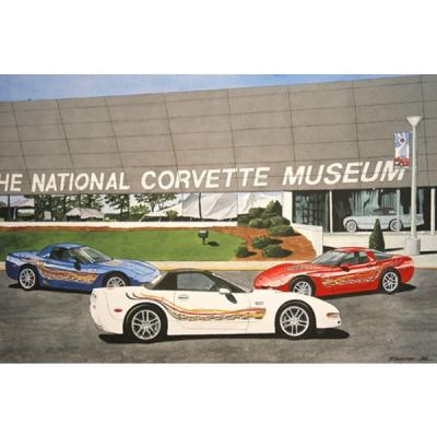 Corvette The Milestone Trio, Fine Art Print By Dana Forrester, 11x17