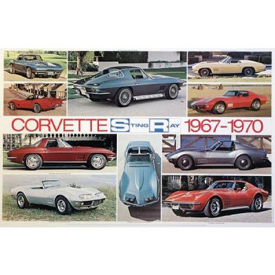 Corvette Sting Ray 1967-1970 Poster