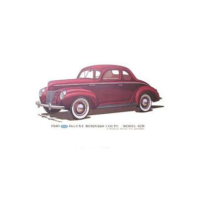 Print - 1940 Ford Deluxe Business Coupe (67B) - 12 X 18 - Unframed