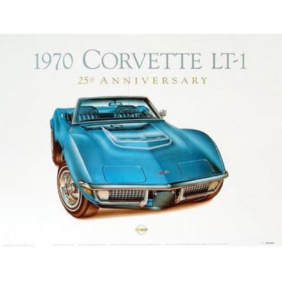 1970 Corvette Mulsanne-Blue Print By Hugo Prado